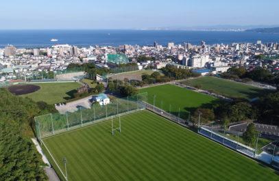 ラグビーワールドカップ 別府キャンプ地グラウンド整備状況写真撮影